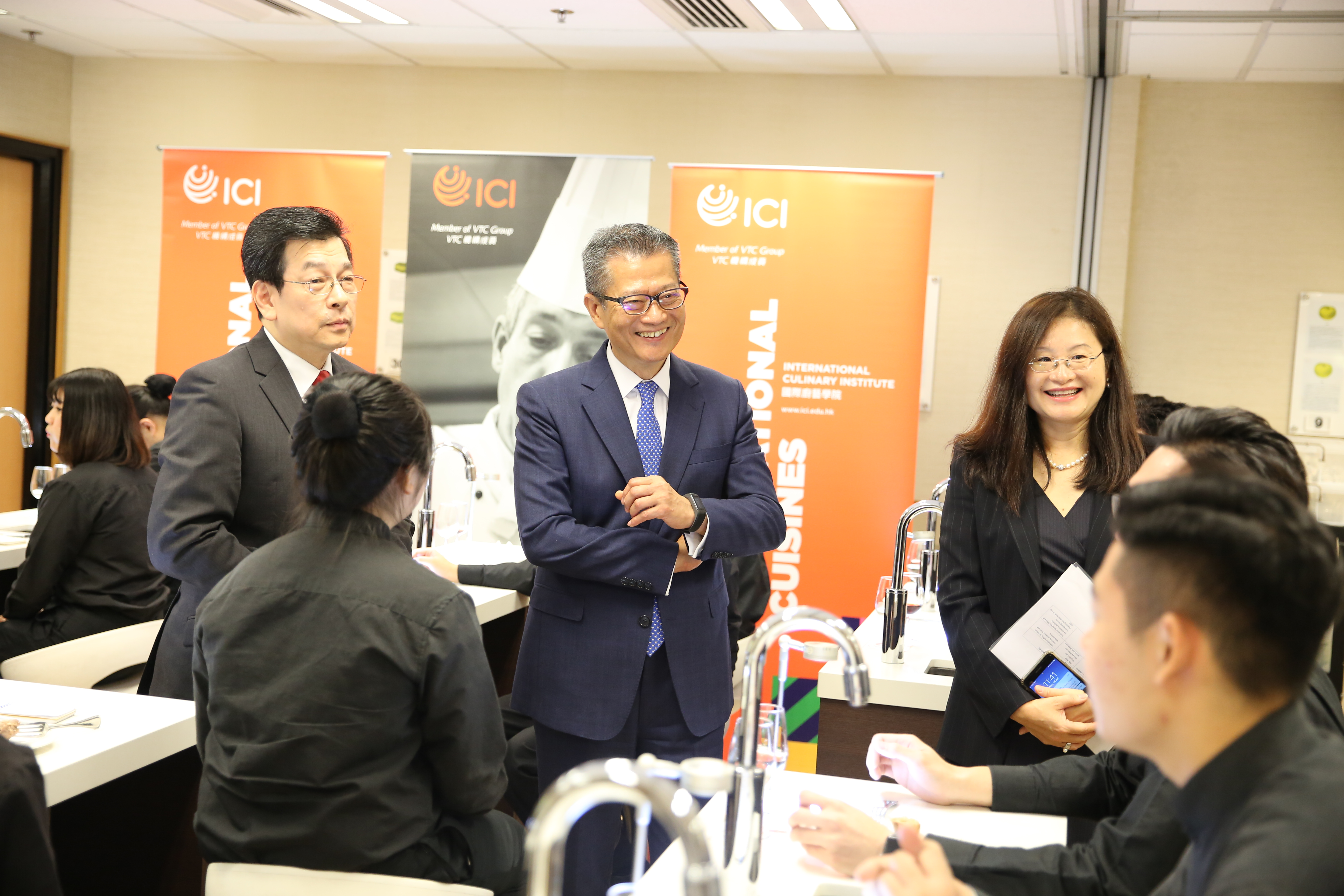 Mr Paul Chan, Financial Secretary of HKSAR visited ICI, CCI & HTI